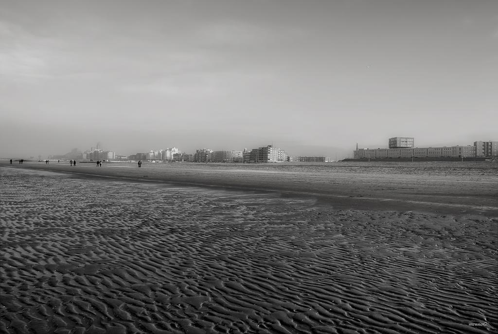 Uitzicht op het strand van Scheveningen